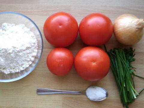 Paradajkové placky - recept postup 1