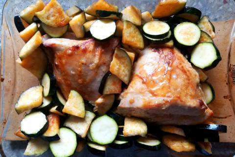 Pečené morčacie prsia s medom, cesnakom a horčicou - recept postup 4
