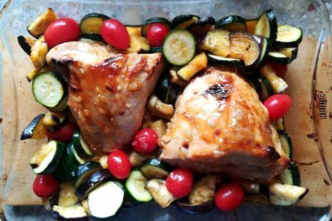 Pečené morčacie prsia s medom, cesnakom a horčicou - recept postup 5