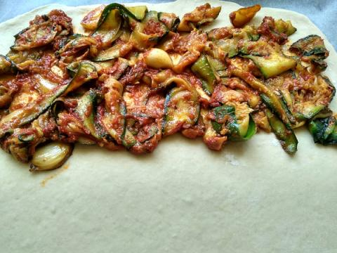 Zeleninová pizza - recept postup 3