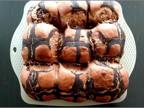 Čokoládové hot cross buns - recept postup 2