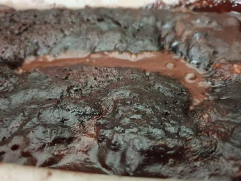 Pečený čokoládový puding - recept postup 2
