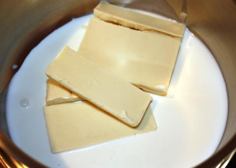 Čokoládový pohár s černicami - recept postup 3