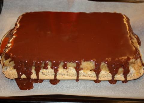 Prevrátený jablkový koláč - recept postup 9