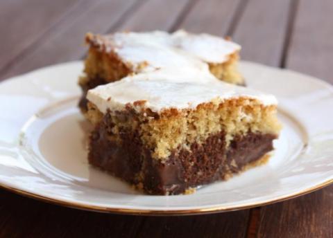Pudingový koláčik - recept postup 1
