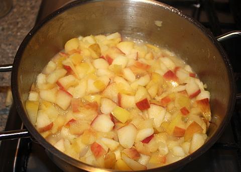 Jablková žemľovka bez pečenia - recept postup 2