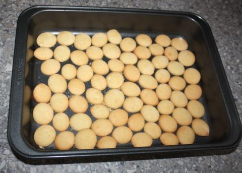 Nepečený zákusok s broskyňami - recept postup 1