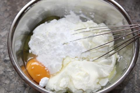 Ríbezľový koláč s tvarohom - recept postup 4