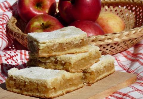 Babkin jablkový koláč - recept postup 1