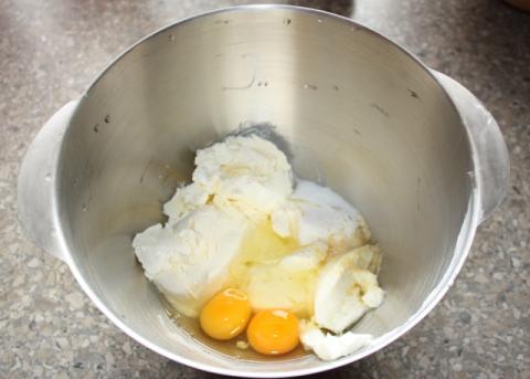 Jablkový cheesecake - recept postup 3