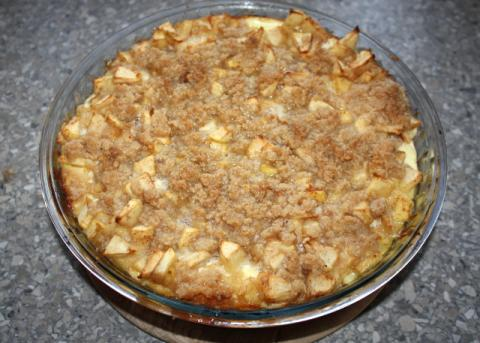 Jablkový cheesecake - recept postup 10