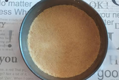 Nepečená čučoriedková torta - recept postup 1