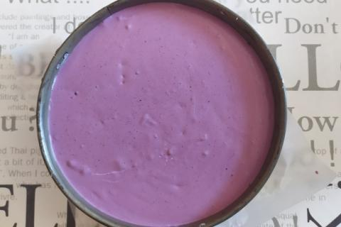 Nepečená čučoriedková torta - recept postup 3