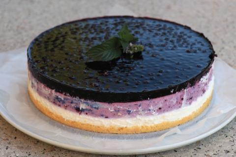 Nepečená čučoriedková torta - recept postup 5
