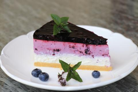 Nepečená čučoriedková torta - recept postup 6