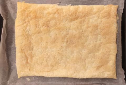 Jablkový krémeš s piškótami - recept postup 1
