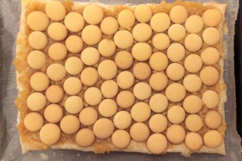 Jablkový krémeš s piškótami - recept postup 2