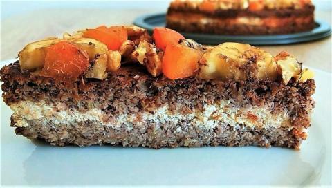 Fit ovocný koláč s tvarohom - recept postup 1