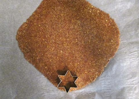 Škoricovo mandľové hviezdičky bez múky - recept postup 7