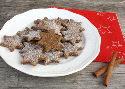 Škoricovo mandľové hviezdičky bez múky - recept postup 10