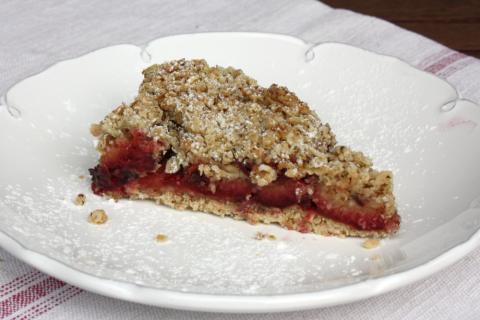 Slivkový koláč s posýpkou - recept postup 10