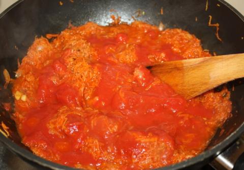 Špagety so zeleninou a tuniakom - recept postup 3