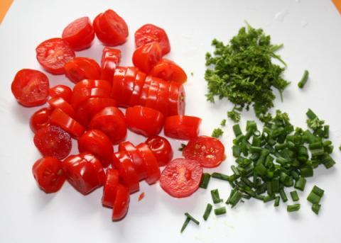 Kurací šalát so špargľou - recept postup 3