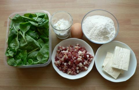 Špenátové halušky - recept postup 1