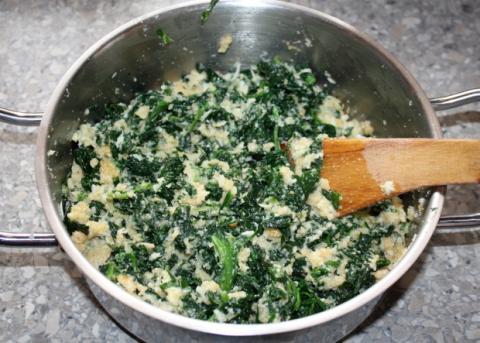 Špenátové guličky - recept postup 2