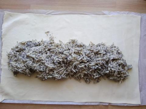Najjednoduchšia jablkovo-maková štrúdľa - recept postup 1