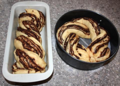 Fantastický twister čokoládový koláč - recept postup 12