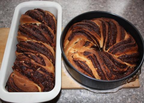Fantastický twister čokoládový koláč - recept postup 13