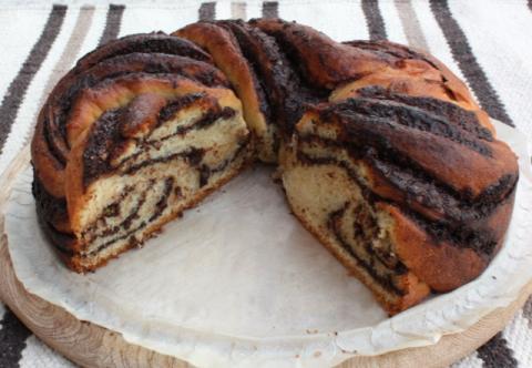 Fantastický twister čokoládový koláč - recept postup 14