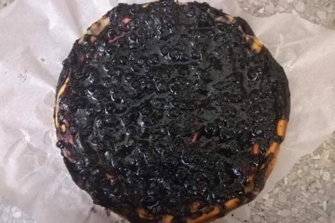 Božská čučoriedkovo tvarohová torta - recept postup 6
