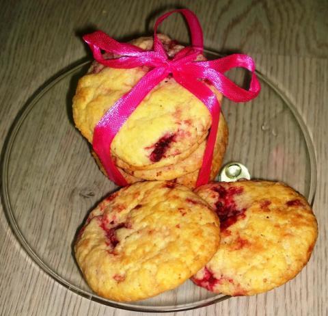 Malinovo citrónové cookies ♥ - recept postup 1