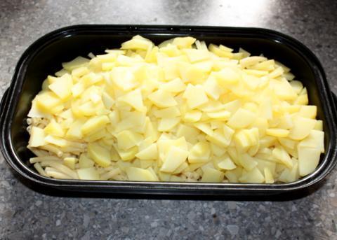 Zapekané cestoviny so zemiakmi - recept postup 2