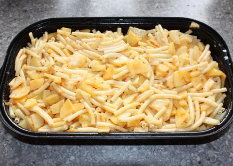 Zapekané cestoviny so zemiakmi - recept postup 5