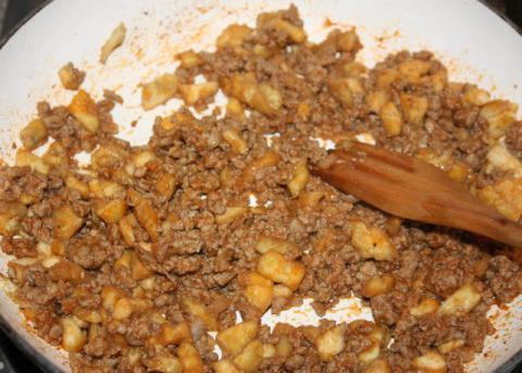 Plnený baklažán - recept postup 4