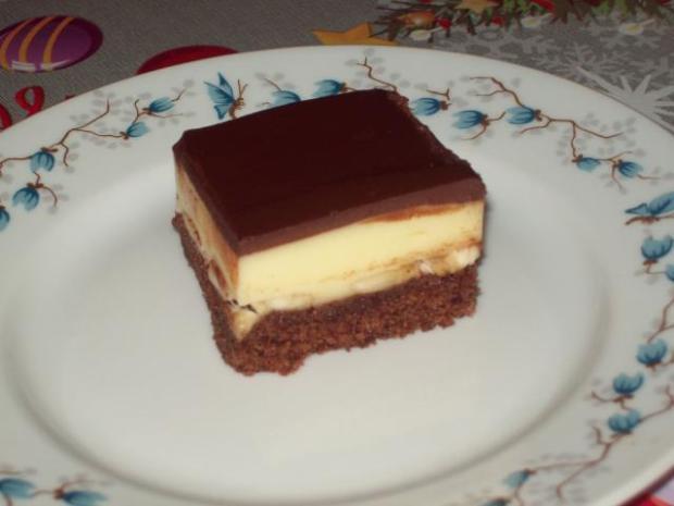 chladivý cokoládovo- banánovo -vanilkovo- tvarohový kolácik - recept