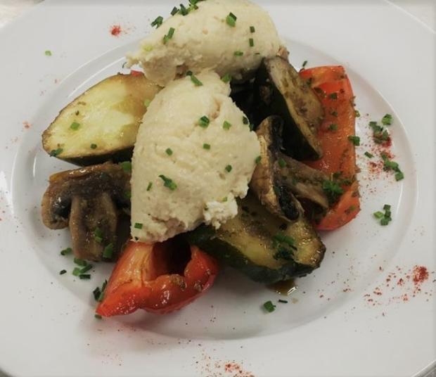 Pečená zelenina s rybacou penou - recept