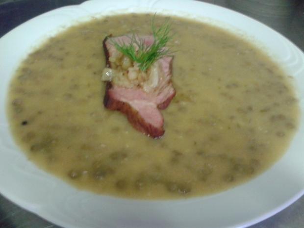 Šošovicový prívarok s údenou varenou krkovičkou - recept
