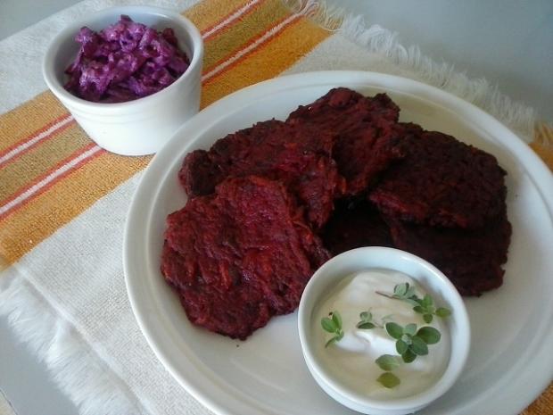 Placky z červenej repy a zemiakov - recept