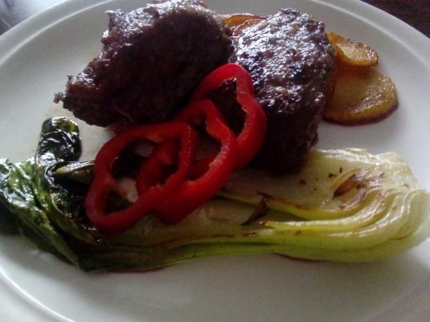 Grilovaná morčacia pečeň a pak choi - recept