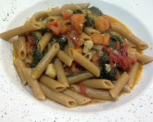 Zeleninové ragú s penne - recept