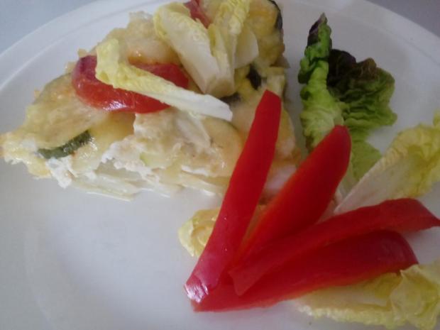 Gratinované zemiaky so zeleninou - recept