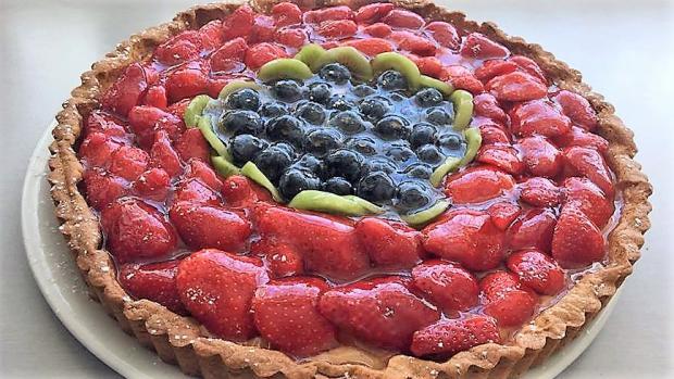 Linecká torta s ovocím - recept