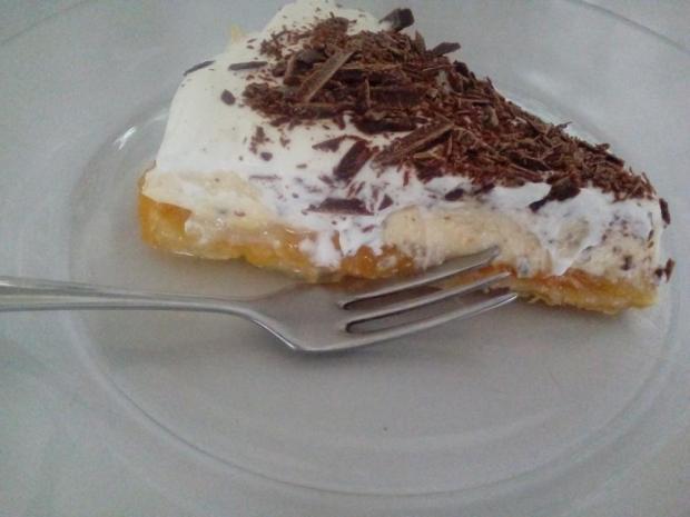 Obrátený ovocný koláč s tvarohovou plnkou | recept