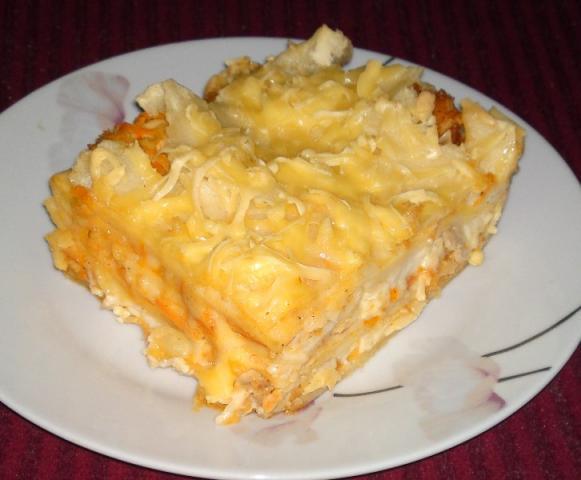 Lasagne s kuracím mäsom a zeleninou.  - recept