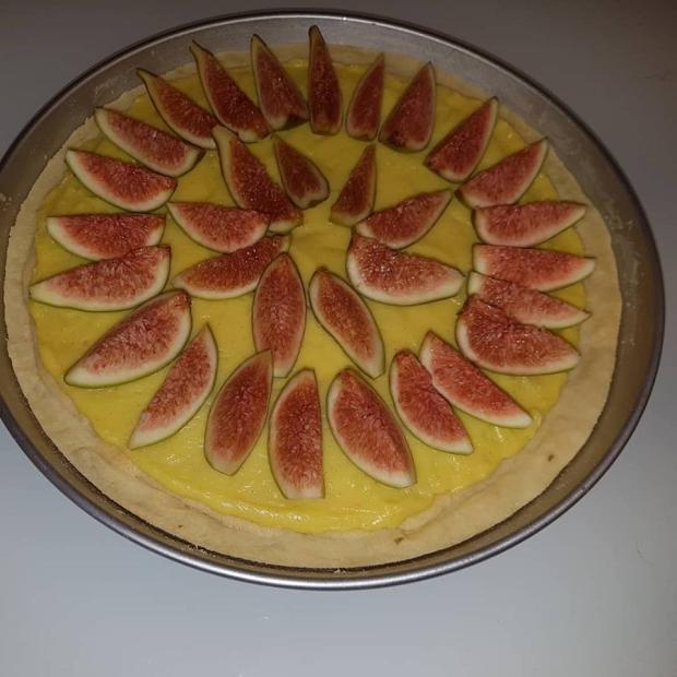 Torta s mandľovým krémom a figami - recept