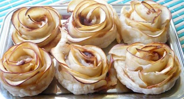 Jablkové ružičky - recept